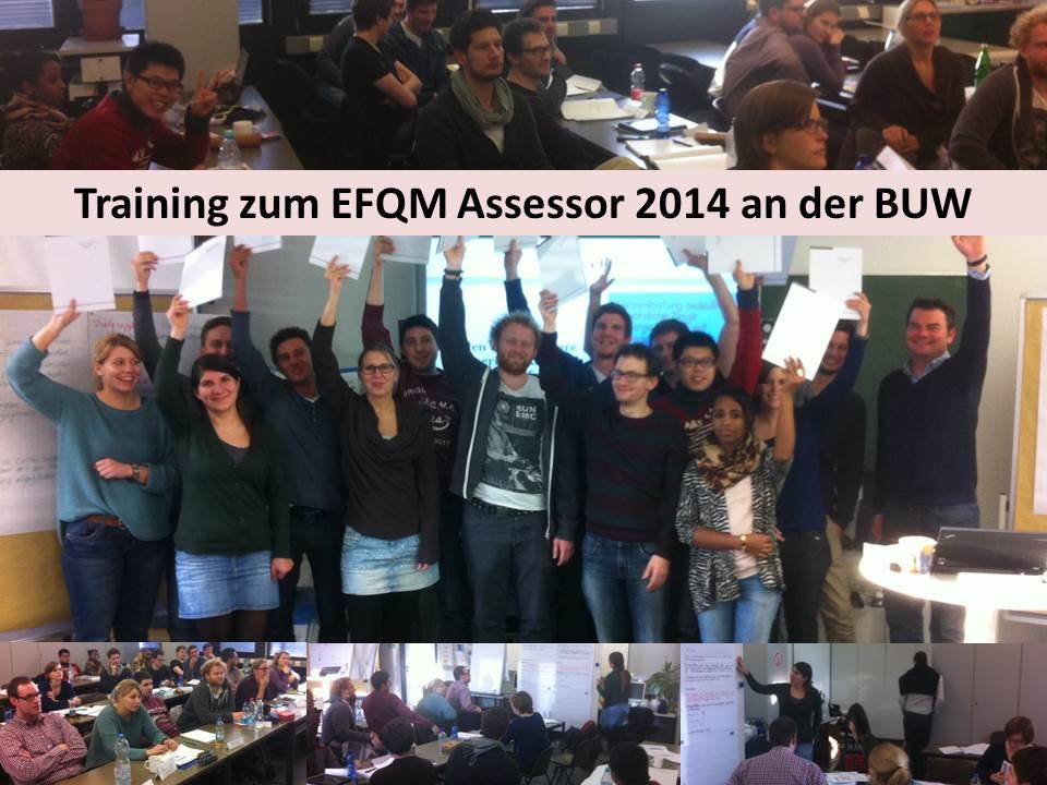 Ausbildungen zum EFQM Assessor an der Universität Wuppertal abgeschlossen